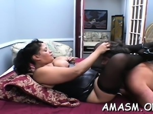 Adult females face sitting fellow in wicked femdom porn show