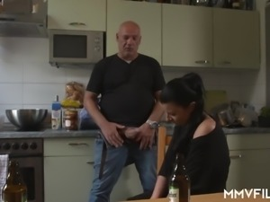 44 yo German housewife Bonny Devil is totally into sucking fat cock