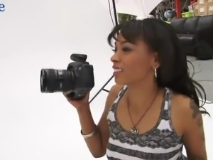 Awesome Puerto Rican photographer Porsha Carrera gets fucked doggy