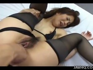 Two dudes get wild while fingering cunt of flexible slut Erika Okazaki