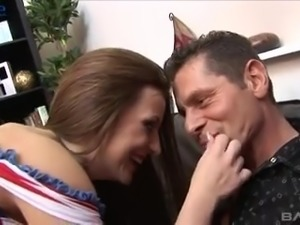 Beautiful busty peacemaker Kelly gets highly busy with working on stiff dick
