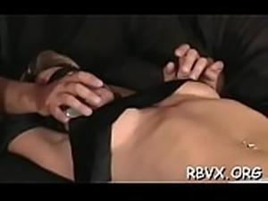Bondage time for frisky sweetheart