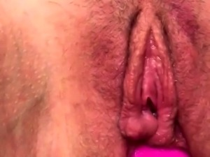 Jerk Off Penis With Pussy Toy Close Up