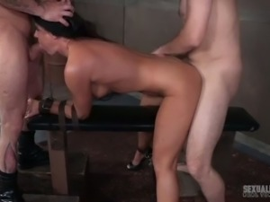 This gorgeous torrid MILF only gets off to rough sex and she loves BDSM