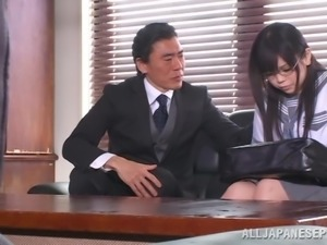 Sexy Japanese chick is getting fucked by her teacher