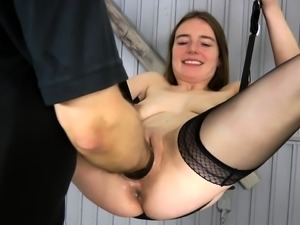 Girl fisting action with vibrator