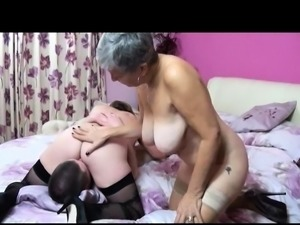 Watch these two mature housewives take on this young lad