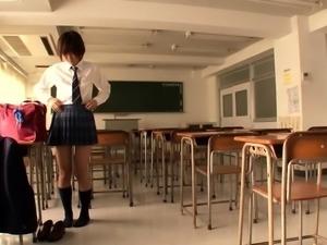 Busty Asian schoolgirl gets the deep pounding she deserves