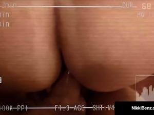 Busty Blonde Hooker Nikki Benz Filmed Fucking Her Client!
