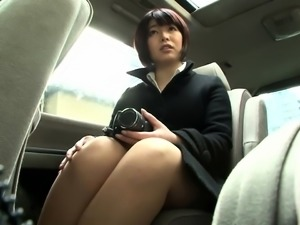 Busty Asian schoolgirl has a stiff cock making her cum hard