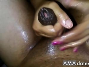 Indian oil massage with cum
