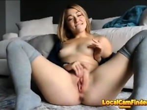 Hot blondy have a good time