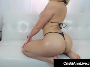 Asian Latina Cristi Ann Oils Up Her Boobs Feet Booty & Pussy