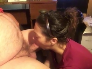 Tracy sucks dick and swallows