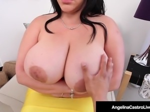 Cuban BBW Angelina Castro Gives Instructor A Sloppy BlowJob!