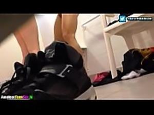 Teen couple having sex in the school bathroom - amateurteensex.in