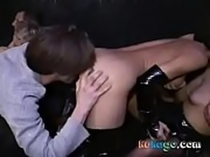 French swinger&#039_s party in sex shop