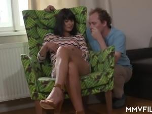 Tanned Czech brunette Tera Joy gets her butthole polished a bit