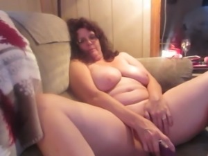 WIFE  MASTERBATING WITH DILDO