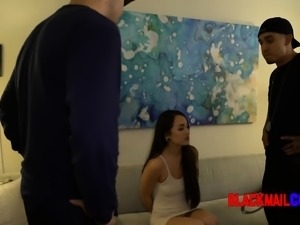 Hot brunette is fucked by cop when she comes to hang out