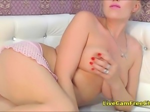 Naughty Blonde Mom Fucking Tight Pussy and Ass With Toy