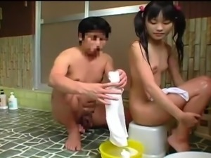 Pigtailed Japanese teen with small boobs gets pounded hard