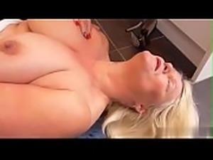 Nice blonde granny is pounded by horny man