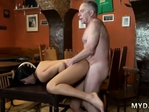 Old guy fucks young blonde Can you trust your gf leaving her