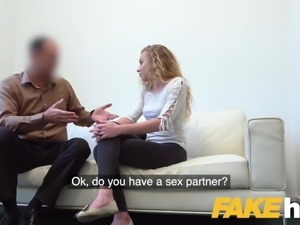 Fake Agent Sexy blonde French model in perfect casting blowj