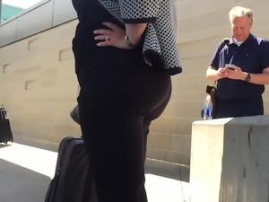 Booties in Black Jeans Spandex  Leggings Nice Ass Compilatio