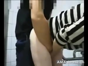 Amateur Japanese Public Toilet Fuck and Suck