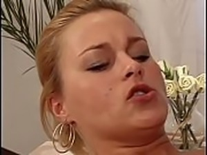 Hot blonde rides a hard cock with her tight ass