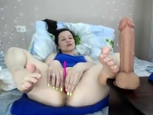 Busty Brunette Conny Hot Sex Toys Masturbation