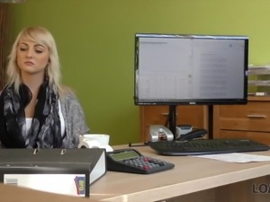 LOAN4K. Sweet blonde-haired princess gives herself to...