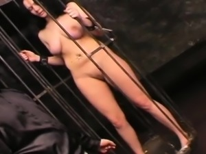 Youg gorgeous gal tied up and abused