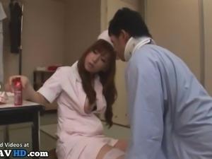 Jav horny nurse has fun with a patient