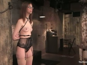 Kristine blows and gets fucked doggy style in amazing BDSM vid