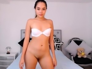 Teen Girl Solo Masturbation and Striptease 28