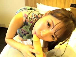 Uncensored japanese solo girl masturbation on couch