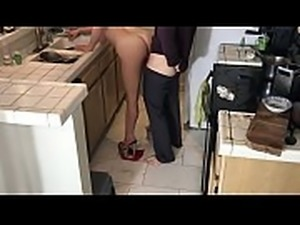 Xxx cleaning lady gets fucked in the kitchen - Matthias Christ