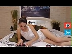 sexy girl in white lingerie deep blowjob