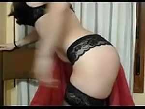 Girl is exhibited on the webcam