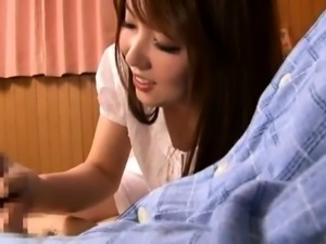Slender Japanese wife seduces two guys to fulfill her needs