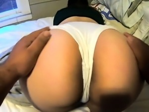 Big booty amateur brunette gets drilled doggystyle in POV