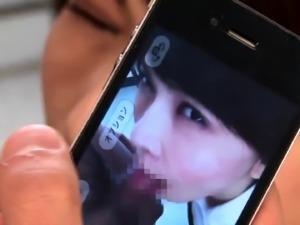 Stacked Japanese slut has three boys sharing her hairy peach