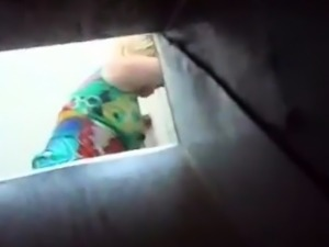 Caught by hidden cam, Spying my mum fingering in toilet