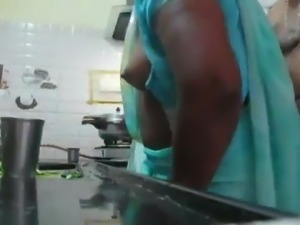 Tamil MILF fucked in Kitchen table