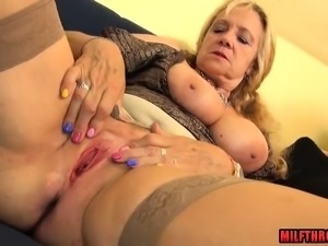 German mature ball licking with cum in mouth