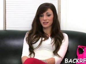 Glorious brunette Vanessa Sixxx blows then fucks