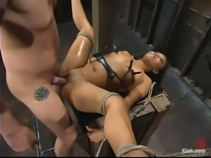 Exotic Babe Jazmine Leih Getting Fucked in Bondage and Domination Session